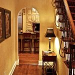 kansas city red black and white wall decor with home stagers entry traditional archways