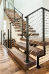 Brilliant Metal Stair Railings Staircase Contemporary with Black Railing Above Ground Pool