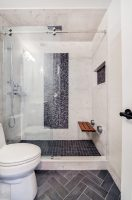 Good Looking Tiled Showers Pictures Bathroom Transitional ...