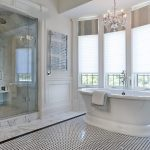 toronto red black and white wall decor with oval soaking bathtubs bathroom traditional molding shower seat