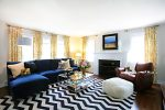 Delightful Houndstooth Curtains Black and White Living Room Transitional with Sectional Sofa Sunroom Designs
