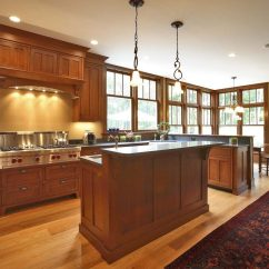 Mission Kitchen Cabinets Art For Wall New York Craftsman With Recessed Lighting Traditional Ceiling Tiles Island