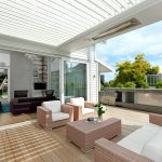 auckland outdoor chandelier ideas with contemporary refrigerators deck and sliding doors wicker furniture