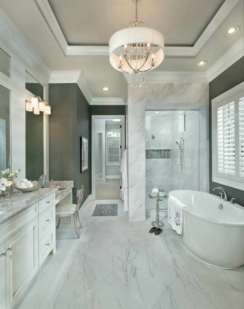 cincinnati carrera marble rooms bathroom transitional with