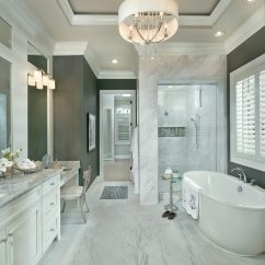 Victorian Accent Chair Leather Folding Chairs Cincinnati Carrera Marble Rooms Bathroom Transitional With Recessed Lighting Cabinets And Shelves