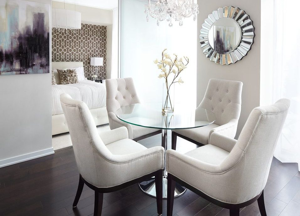 dallas glass barn doors with lined valances dining room contemporary and round table white chair