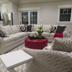 Ethan Allen Living Room Pics Chocolate Brown And Red Dc Metro Sectional Sofas Transitional With Contemporary Area Rugs Sofa Nailhead