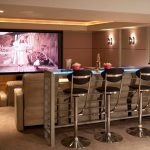 denver modern bar stools with faux leather adjustable height home theater contemporary and led lit countertop renovation