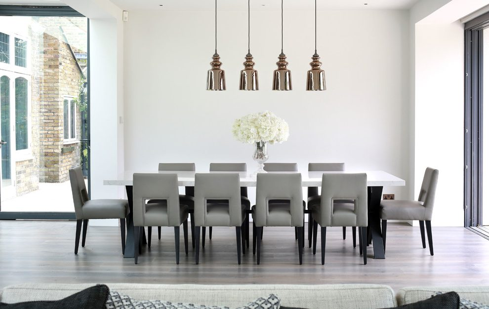 contemporary kitchen tables orange towels london table and chairs ikea dining room with pendants grey