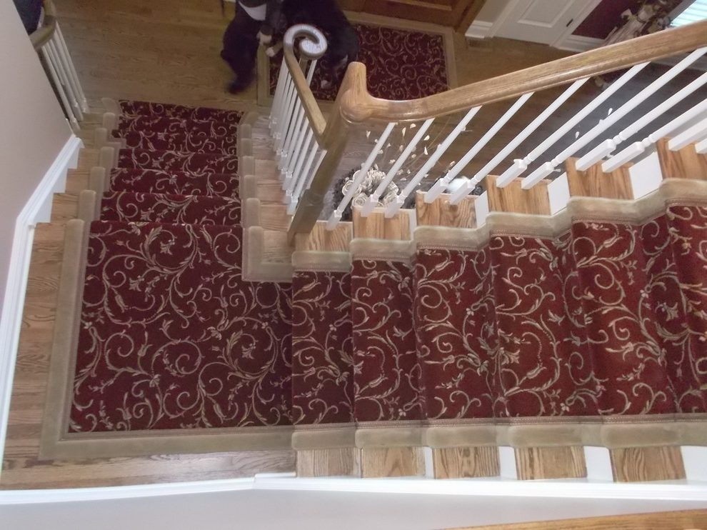 New York Modern Stair Runners Staircase Traditional With Custom | Modern Carpet Runners For Stairs | Geometric | Design | White | Curved | Kitchen Modern