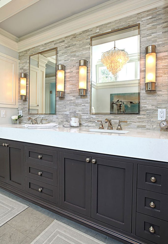 New York Smoky Gray Color Bathroom Transitional With