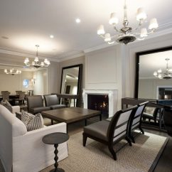 Contemporary Living Room With Black Leather Sofa Gaming Pc Case For Ideas Metal Side Tables And End