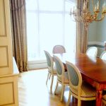 french style dining room with home stagers and