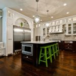 media niche cabinets with saddle seat counter height stools and