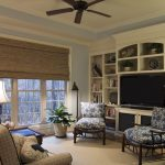 media niche cabinets with scandinavian armchairs and accent chairs