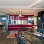 media niche cabinets with stainless steel island range hoods and