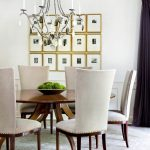 Atlanta nailhead trim dining chair Dining Room Transitional with home stagers high back chairs
