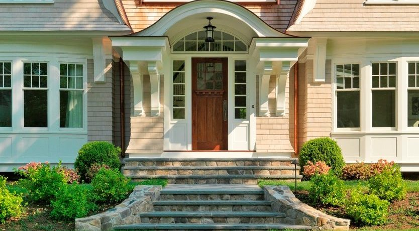 Boston exterior window trim ideas Exterior Traditional with dealers and installers brick steps