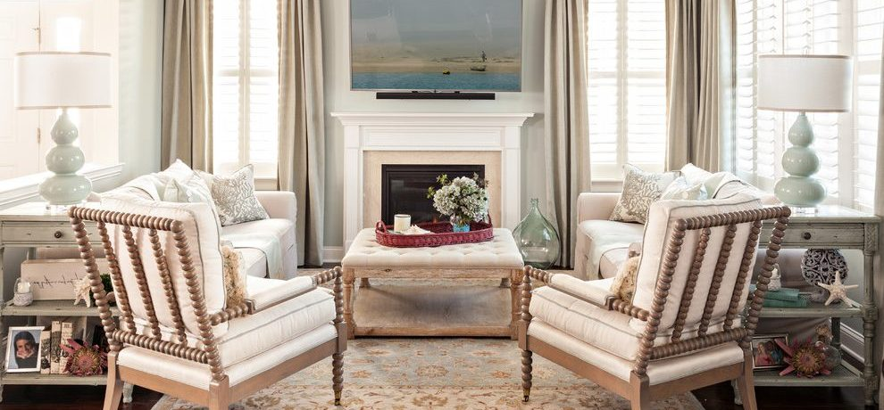 Boston pier one coffee table Living Room Beach Style with window treatment professionals spool chair