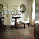 Charlotte dark wooden floors Dining Room Transitional with home stagers formal farmhouse dining photos