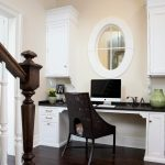 Chicago dark wooden floors Home Office Traditional with cabinet professionals living room home office