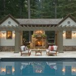 DC Metro taupe and grey Pool Traditional with patio outdoor enclosure professionals pool house