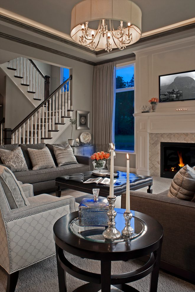 Detroit high end furniture Living Room Traditional with chimney cleaners grey