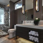 Hawaii travertine colors Bathroom Contemporary with stone and countertop manufacturers showrooms bathroom towel storage