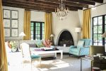 Awesome Mustard Sofa Living Room Traditional Image Ideas with Window Dealers and installers Chimney Cleaners