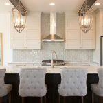 Milwaukee white glazed Kitchen Transitional with stone and countertop manufacturers showrooms kitchen island light fixture