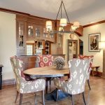 Minneapolis nailhead trim dining chair Dining Room Craftsman with kitchen and bathroom designers wood stair railing ideas