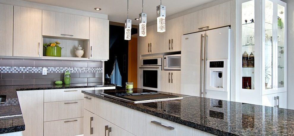 Montreal olive green kitchen cabinets Kitchen Contemporary with and bathroom remodelers narrow
