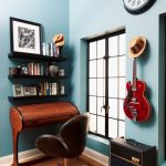 New York upholstered desk chair home Home Office Eclectic with closet designers and professional organizers small office space