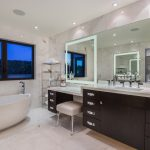 Orange County etagere bathroom Bathroom Contemporary with kitchen and designers chrome