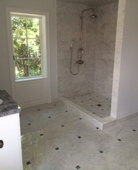 Bathroom carrera bathroom Modern Pic 1 with mirror and shower door dealers granite shelf ideas