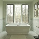 Chicago carrera bathroom Bathroom Traditional with contemporary bathtub faucets master bath