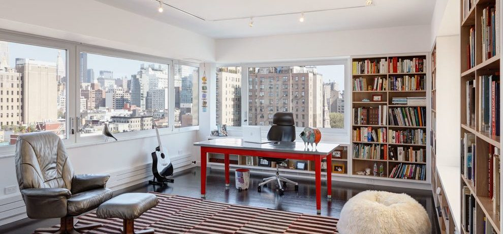 New York Apartment Pictures Home Office Contemporary with home theater and automation professionals micro topping