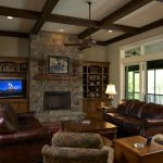 Other fireplace mantels with tv above Family Room Craftsman polyester sofas and sectionals simple ceiling