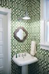 Pleasing Small Sunburst Mirror Powder Room Transitional Decorating Ideas with Kitchen and Bathroom Designers Shower Door Dealers