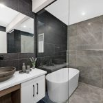 Canberra accent wall bathroom Bathroom Contemporary with kitchen and designers interior designing in kerala ideas