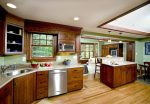 Marvelous Dark Wood Floors with Cabinets Home Office Transitional Designing Tips Cabinet and Cabinetry Professionals Home Theater Automation