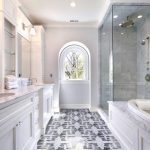 New York white marble carrara Bathroom Traditional with stone and countertop manufacturers showrooms shower tile pattern