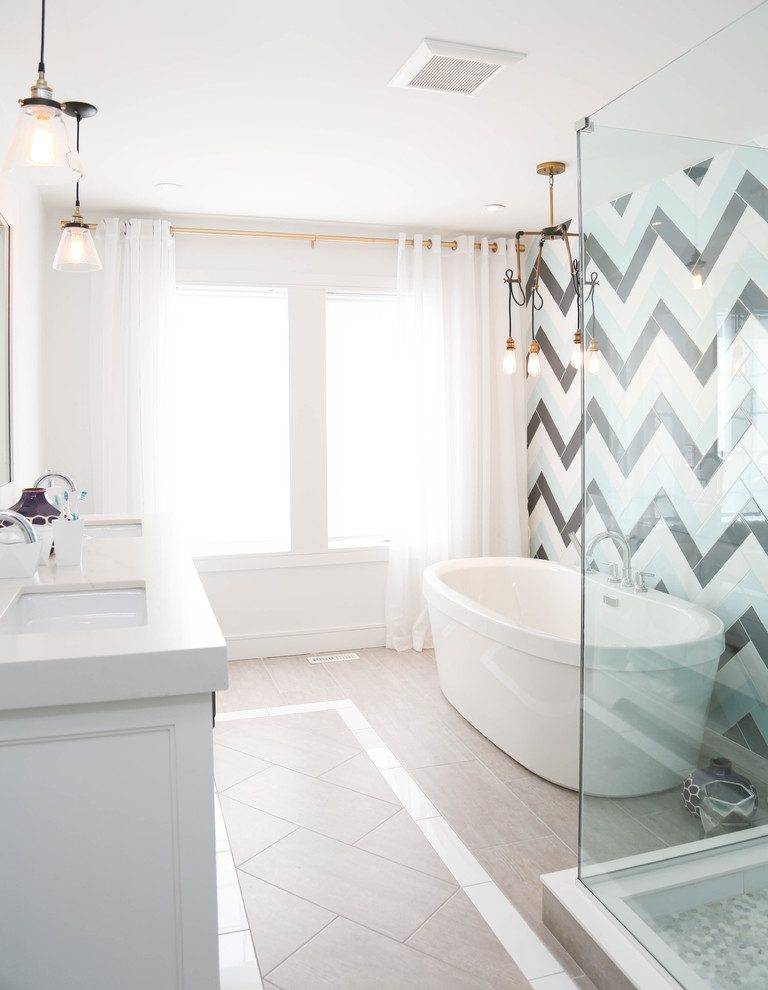 Toronto accent wall bathroom Bathroom Transitional with stone and countertop manufacturers showrooms x5 ceramic tile ideas