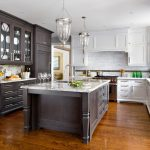 Toronto golden oak cabinets Kitchen Traditional with stone and countertop manufacturers showrooms two color kitchen