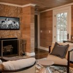 Boston fireplace marble surround Home Office Transitional with cabinet and cabinetry professionals screen