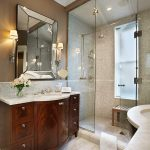 Chicago shower designs with bench Bathroom Traditional mirror and door dealers frameless