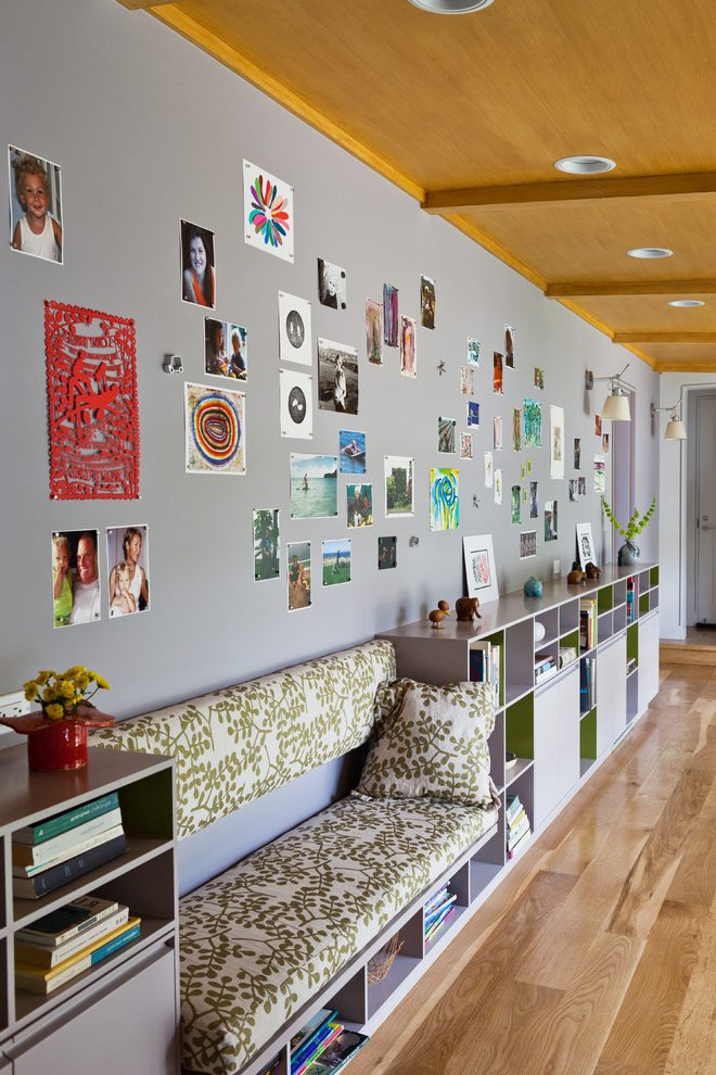 Los Angeles taupe wall paint Hall Contemporary with interior designers and decorators gallery ideas