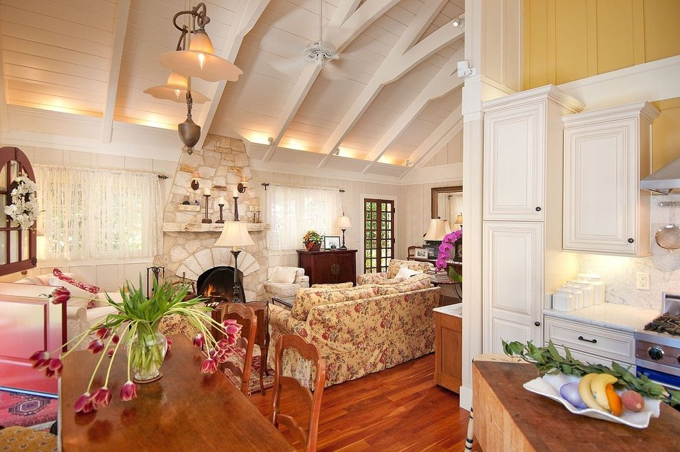 Seattle fireplace marble surround Living Room Traditional with tropical artificial flowers simple ceiling