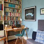 London built in bookshelves with desk Home Office Eclectic cabinet and cabinetry professionals beautiful small home