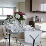 London modern rocking chair Dining Room Contemporary with kitchen and bathroom designers table setting